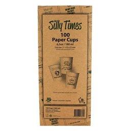 "Cups Cardboard 177ml ""Silly Times"" Displaybox"