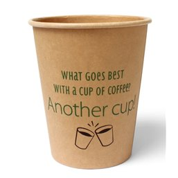 "Coffee Cups Brown Cardboard 237ml 9oz ""Silly Times"""