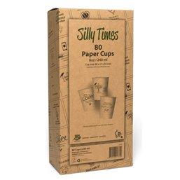 "Coffee To Go Cups Brown Cardboard 237ml 9oz Ø 80mm ""100% Fair"""