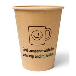 "Coffee To Go Cups Brown Cardboard 355ml Ø 90mm ""100% Fair"""