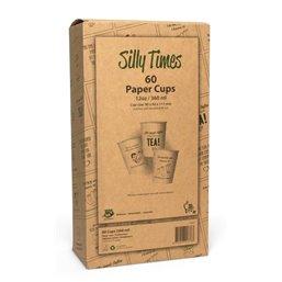 "Coffee To Go Cups Brown Cardboard 355ml Ø 90mm ""100% Fair"" Displaybox"