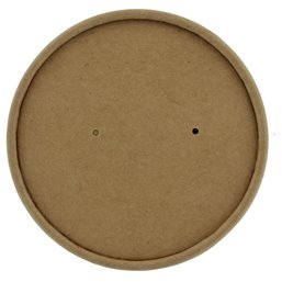 "Lid for Soup Cups To Go Brown Cardboard ""100% FAIR"" Ø 98mm"