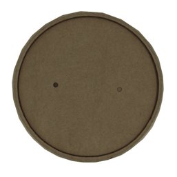 "Lid for Soup Cups To Go Brown Cardboard ""100% Fair"" Ø 118mm"