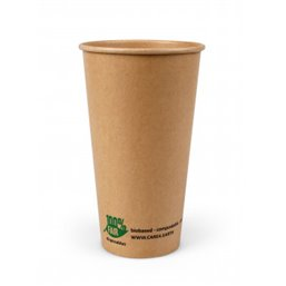 "Milkshake Cup Brown Cardboard 360ml Ø 90mm ""100% Fair"""
