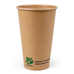 "Milkshake Cup Brown Cardboard 480ml Ø 90mm ""100% Fair"""