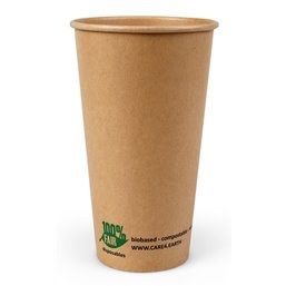 "Milkshake Cup Brown Cardboard 600ml Ø 90mm ""100% Fair"""