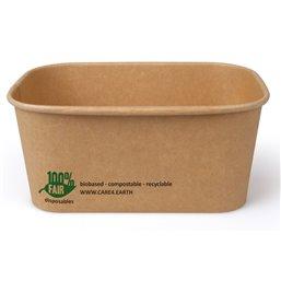 "Menu Box Cardboard 1000ml ""100% Fair"" 173x120x75mm"