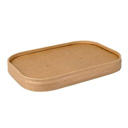 "Lid for Meal Containers Cardboard ""100% Fair"" 173x120mm"