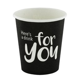 "Koffiebekers To Go 120ml Karton ""For You"" Ø 62 x 63mm"
