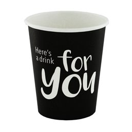 "Coffee Cups Cardboard 177ml Ø 72mm ""For You"""