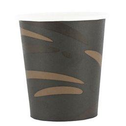 """Coffee Cups Black Brown Cardboard 177ml Ø 71mm """"Surfer"""""""