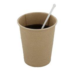 Coffee Cups Brown Cardboard 177ml Ø 72mm