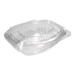 Salad Bowl Rectangular with Secure Lid PLA 375ml 126 x 59 x 50mm Transparent