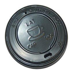 Deksels voor Koffiebekers To Go 4oz Zwart PS Ø 63mm