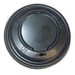 Deksels voor Koffiebekers To Go Zwart PS Ø 71mm