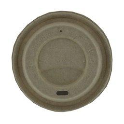 Deksels voor Koffiebekers To Go Bruin Suikerriet Ø 90mm