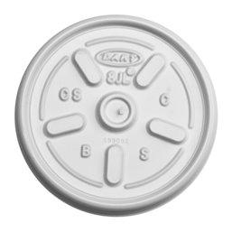 Deksels (D8-s) Wit PS Ø 80mm