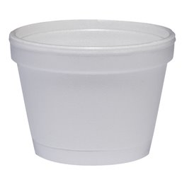 Foam Containers (D6-s) White 118ml Ø 73,6mm