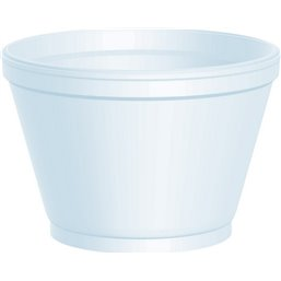 Foam Containers (D12-s) White 177ml Ø 88,9mm
