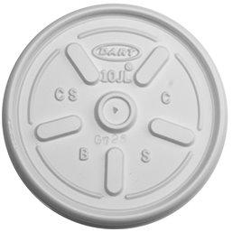 Deksels met Stoomgaatje Wit PS Ø 83,8mm