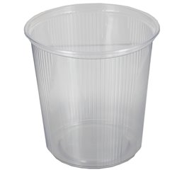 Salad containers 500ml Round PP Ø Round Ribbed 101 x 103mm