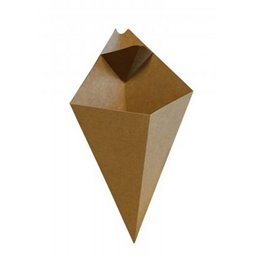 Cones (with Sauce compt.), Brown Cardboard 16x27cm