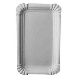 "Cardboard Plates ""Pure"" 10cm x 16cm White"