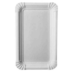 "Cardboard Plates ""Pure"" 110 x 175mm White"