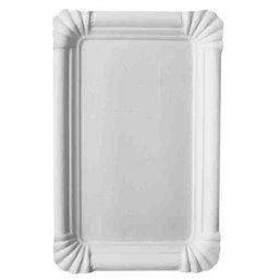 "Cardboard Plates ""Pure"" 13cm x 20cm White"