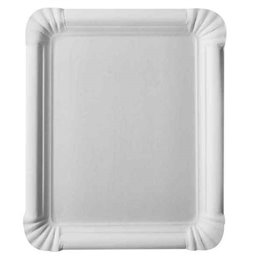 "Cardboard Plates ""Pure"" 165 x 200mm White"