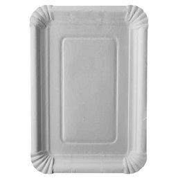 "Cardboard Plates ""Pure"" 18cm x 26cm White"