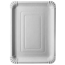 "Cardboard Plates ""Pure"" 240 x 330mm White"