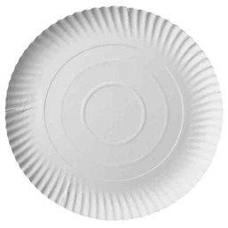 "Cardboard Plates ""Pure"" Round Ø 240 x 20mm White"