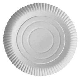 "Cardboard Plates ""Pure"" Round Ø 260 x 20mm White"