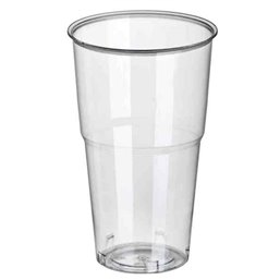 "Drinking Cups PLA ""Pure"" 500ml Ø 95mm 16,2cm Crystal clear with foamhead ""For cold drinks"""