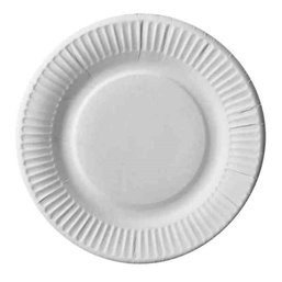 """Cardboard Plates """"Pure"""" Round Ø 190mm White Extra Strong"""