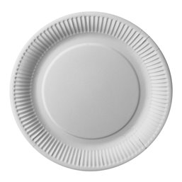 """Cardboard Plates """"Pure"""" Round Ø 260mm White Extra Strong"""
