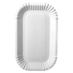 "Cardboard Plates ""Pure"" 15 x 23 x 2cm White"