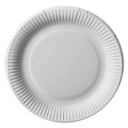 """Cardboard Plates """"Pure"""" Round Ø 230m White Extra Strong"""