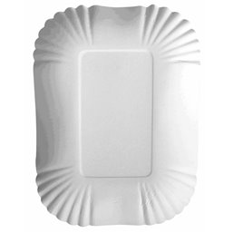 "Cardboard Plates ""Pure"" 130 x 175 x 30mm White"