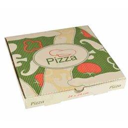 """Pizza Box Cellulose """"Pure"""" 24 x 24 x 3cm"""