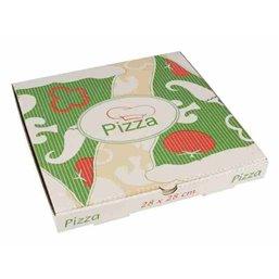 """Pizza Box Cellulose """"Pure"""" 28cm x 28cm x 3cm"""