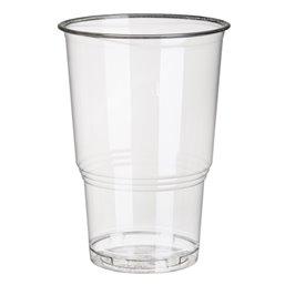 """Drinkbekers 250ml """"Pure"""" PLA Glashelder met Schuimkraag """"voor Koude Dranken"""" Ø 78 x 110mm"""