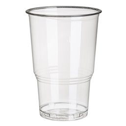 "Drinking Cups PLA ""Pure"" 250ml Ø 78mm 11cm Crystal clear with foamhead ""For cold drinks"""