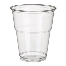 "Drinking Cups PLA ""Pure"" 300ml Ø 95mm 11cm Crystal clear with foamhead ""For cold drinks"""