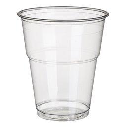"""Drinkbekers 300ml """"Pure"""" PLA Glashelder met Schuimkraag """"voor Koude Dranken"""" Ø 95 x 110mm"""
