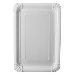"Cardboard Plates ""Pure"" 165 x 230mm White"
