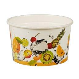 "Ice Cream Cups Cardboard ""Pure"" Round 125ml Ø 78mm 4,9cm ""Fruit"""