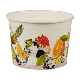 "Ice Cream Cups Cardboard ""Pure"" Round 150ml Ø 80mm 5,5cm ""Fruit"""