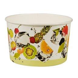 "Ice Cream Cups Cardboard ""Pure"" 250ml Ø 102mm 6,2cm ""Fruit"""